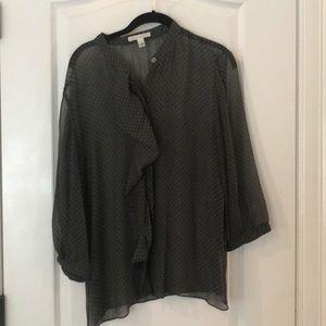 Banana Republic Grey Sheer Shirt